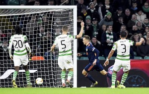 Valencia take a two-goal lead from Celtic Park in Europa League clash