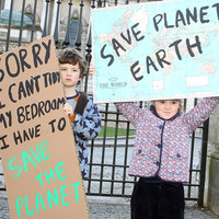 Children in Belfast climate change protest warn time is running out