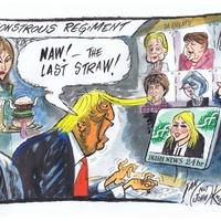 Michelle O'Neill as documented by Irish News cartoonist Ian Knox