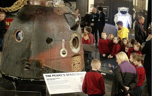 Tim Peake's spacecraft makes landfall at Ulster Transport Museum
