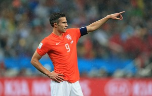 Watch: 'Class act' Robin van Persie greets every mascot before match