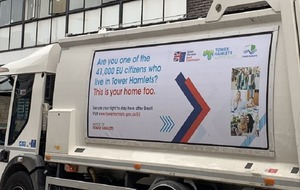 Council uses bin lorries to tell EU residents 'this is your home'
