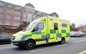 Children cut from a car following four vehicle collision