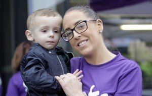 Two-year-old Parker McGreevy who had multiple strokes at birth starts Resolution Run