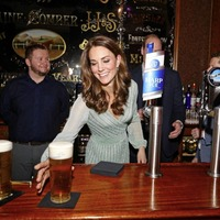 Prince William and wife Catherine pull pints on first day of Northern Ireland trip