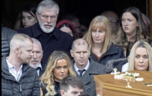 Gerry Adams attends Donegal funeral of paedophile brother Liam