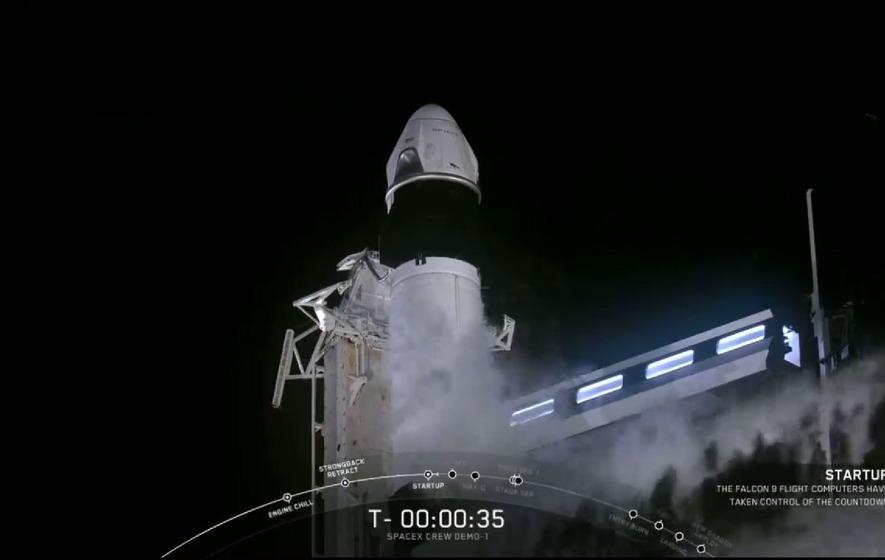SpaceX's Crew Dragon spacecraft blasts off into space - The Irish News