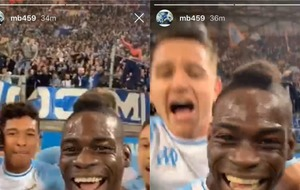 Mario Balotelli celebrates Marseille goal by going live on Instagram