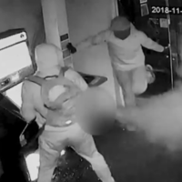 Burglars flee after being smoked out by security system