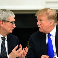 Apple boss trumps Trump after president's name gaffe