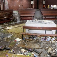 Wanton vandalism of disused Catholic church in north Belfast emerged after theft