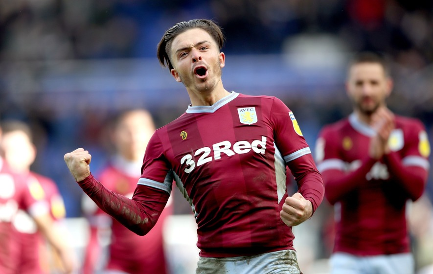 Jack Grealish punched in the face by pitch invader