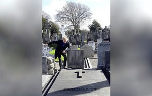 Rod Stewart visited Grace Gifford Plunkett's grave in Dublin