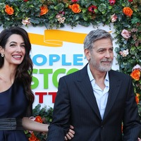 George and Amal Clooney in Edinburgh for charity gala