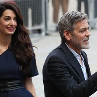 George and Amal Clooney in Edinburgh for charity work celebration