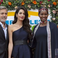 George and Amal Clooney handed gala award for human rights work