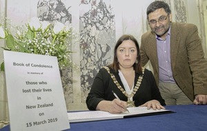 Book of condolence for victims of New Zealand gun attacks opened in Belfast