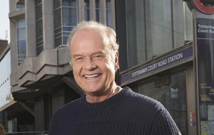 Kelsey Grammer makes Tube announcements in London to mark launch of new show