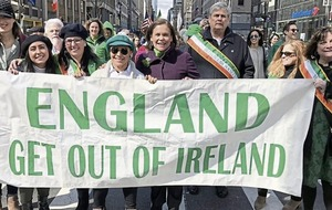 Michelle O'Neil says 'England Get Out of Ireland' banner was about ending partition