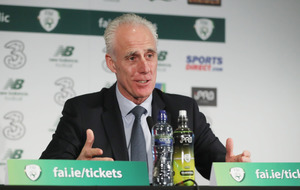 Ireland boss Mick McCarthy looking forwards not back