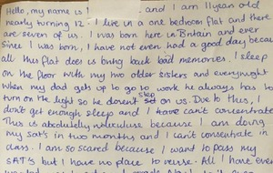 I sleep on the floor with my sisters – girl, 11, writes heartfelt letter to MP