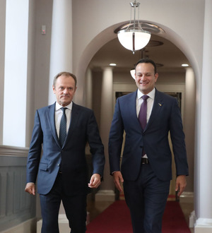 Leo Varadkar and Donald Tusk hold Brexit talks in Dublin