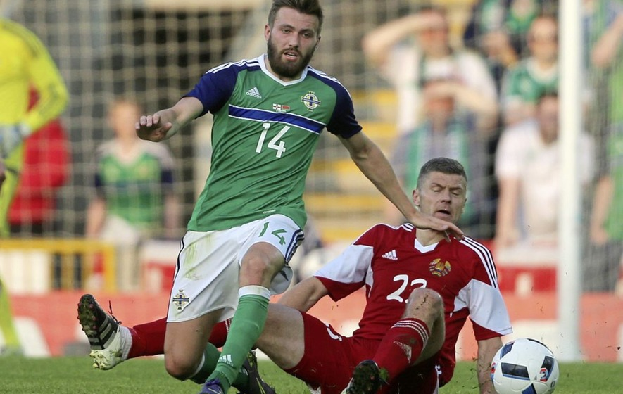 a79d3657c78 Stuart Dallas is aiming to feature for Northern Ireland against Belarus  again on Sunday - and against Estonia tonight.