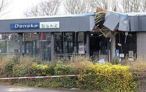 Video: Stolen digger used to rip ATM from Danske Bank
