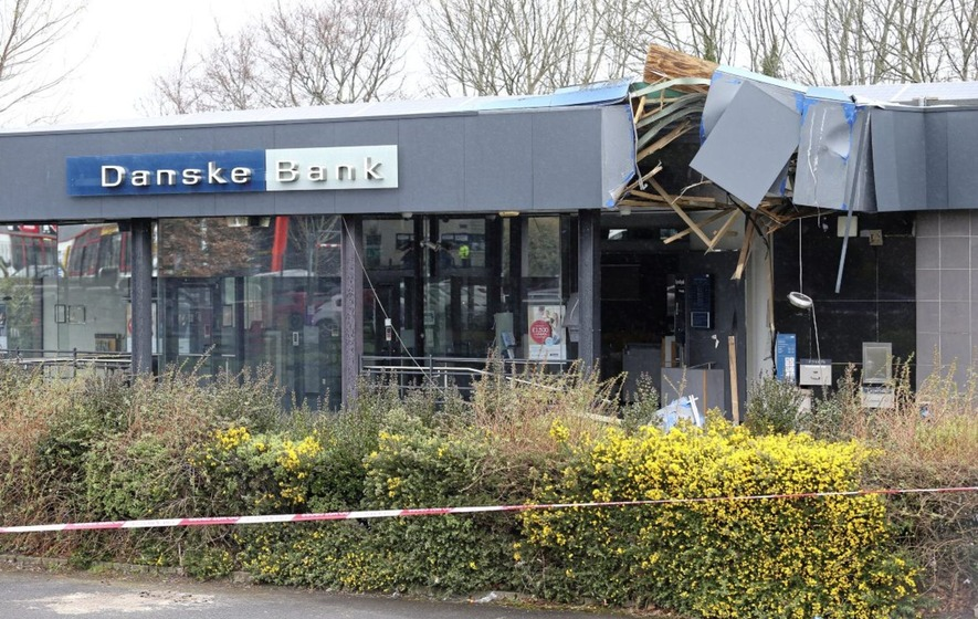 a241cd3e0533 An ATM was ripped from a wall at Danske Bank in Newtownabbey by thieves  using a stolen digger. Picture by Mal McCann