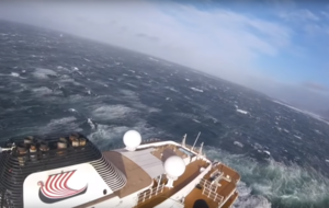 Footage shows Norwegian rescue services airlift Viking Sky passengers to safety