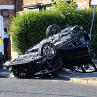 Baby was in car which flipped onto roof after being hit by stolen vehicle