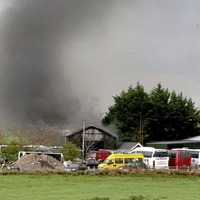 Firefighters tackle workshop fire in Ballymoney