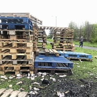 Pallets stacked at notorious loyalist bonfire site – and it's only April
