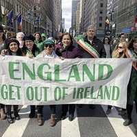 Mary Lou McDonald apologises over 'England get out of Ireland' banner