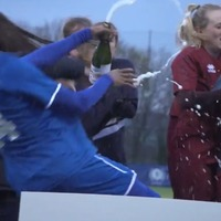 Watch: Goalkeeper gets champagne trophy celebration very wrong