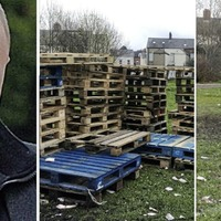 Jamie Bryson tells of plan to scale back loyalist bonfire as pallets are removed