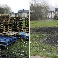 Pallets removed again from notorious loyalist bonfire site in east Belfast