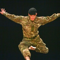 Soldier performs on stage after keeping dance passion secret