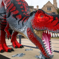 In Pictures: Beware the Brickosaurs! Lego dinosaurs invade zoo