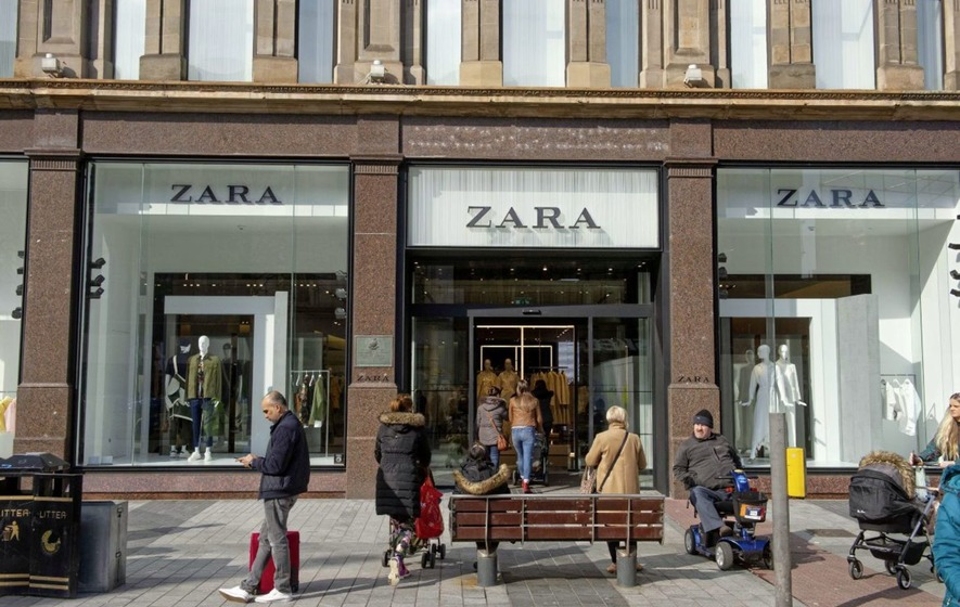 a846af01 Zara reopened in Belfast city centre yesterday after being closed due to  the Primark fire. Picture by Mark Marlow