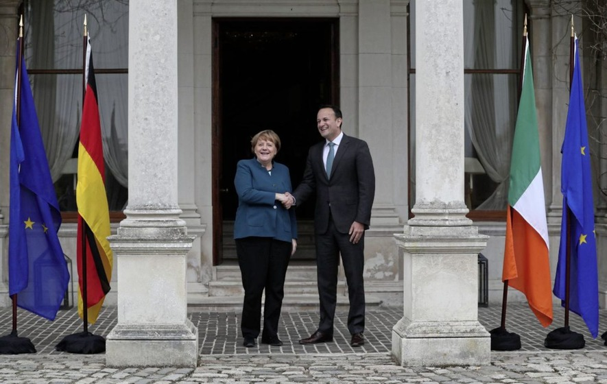 Merkel expresses solidarity with Ireland on Brexit