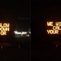 Police warn speeding motorists: Slow down or we'll tell mum