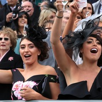 Aintree's Ladies Day finishes with impromptu Sweet Caroline singalong