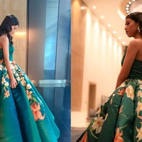 Student spent a month designing and making intricate graduation ball dress
