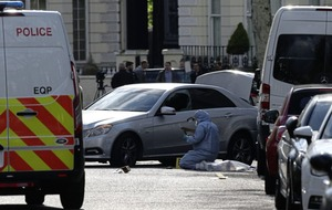 Man arrested for deliberately ramming ambassador's car outside Ukrainian embassy in London sectioned under the Mental Health Act