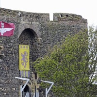 Parachute Regiment flags erected at popular tourist spots