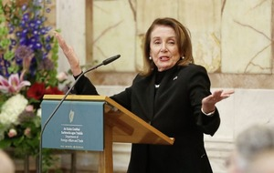 US House of Representatives speaker Nancy Pelosi warns that Brexit damage to Good Friday Agreement would thwart US trade deal