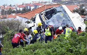 ALL 29 people killed in a tour bus crash on Portugal's Madeira Island German, say authorities