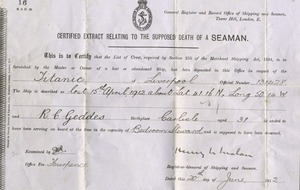 Letter written on Titanic by a steward who died on doomed ship be sold at auction