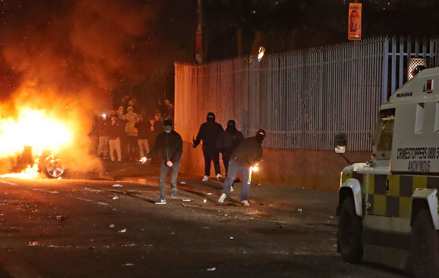 Two teenagers arrested in relation to Lyra McKee death during Derry rioting